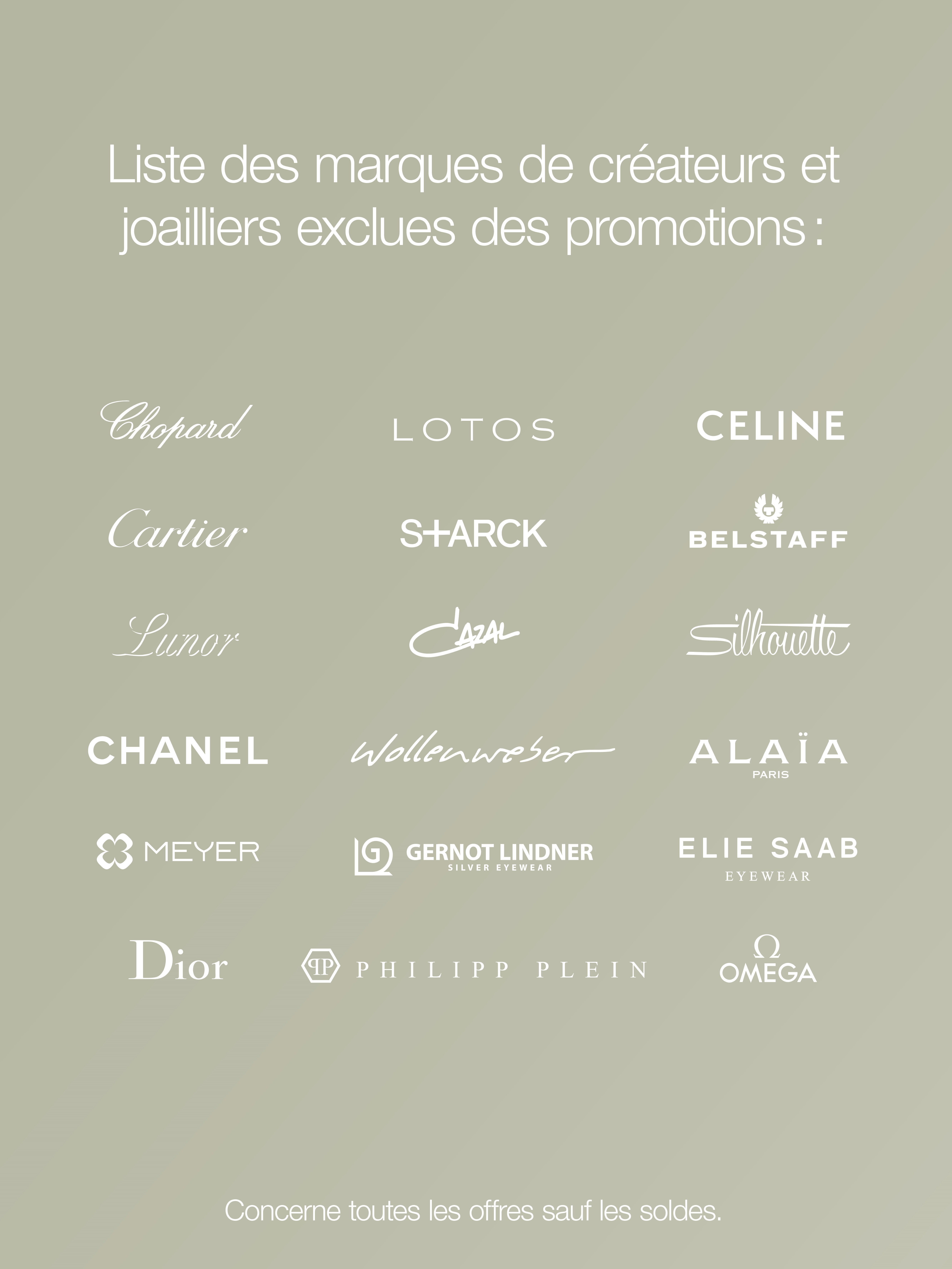 Liste marques exclues