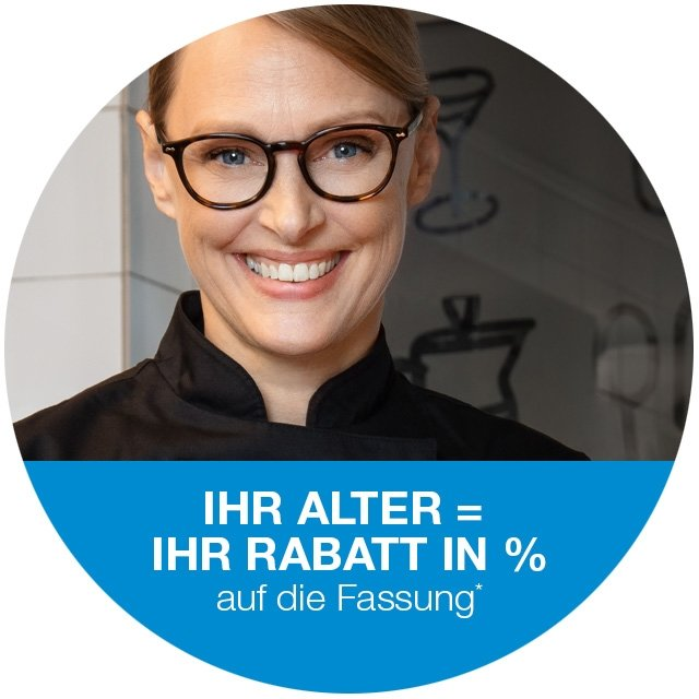 Ihr Alter = ihr % Rabatt in %*