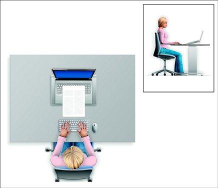 Travail confortable sur ordinateur portable