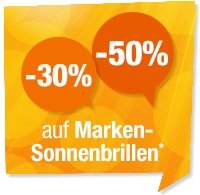 -30% und -50% auf Marken-Sonnenbrillen*